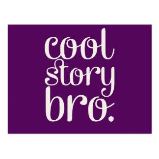 Cool Story Bro Purple Postcard