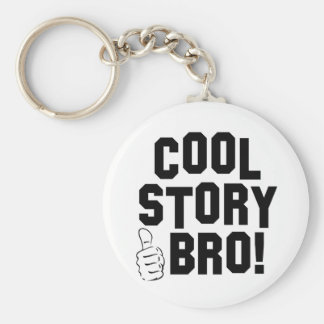 Cool Story Bro! with Thumbs Up Basic Round Button Key Ring