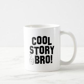 Cool Story Bro! with Thumbs Up Basic White Mug