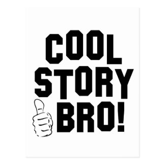 Cool Story Bro with Thumbs Up Post Cards