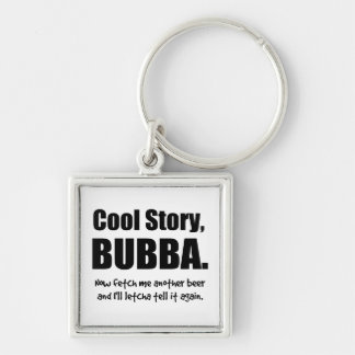 Cool Story, Bubba Silver-Colored Square Key Ring