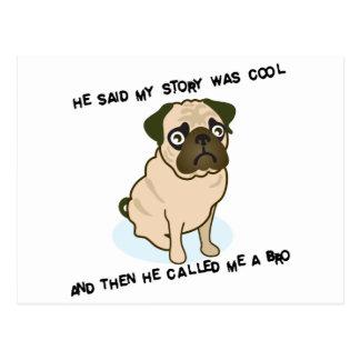 Cool Story Pug Postcard