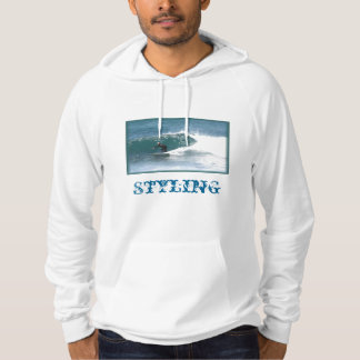 Cool Style Blue And White Surf Hoodie