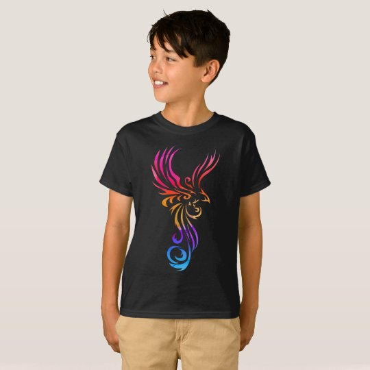 Cool Stylised Phoenix Kids T Shirts