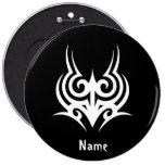 Cool Stylish Elegant Classic Black White Tribal Badge