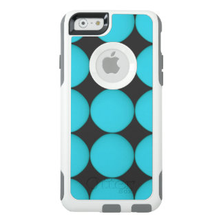 Cool Stylish Teal Light Blue Polka Dots OtterBox iPhone 6/6s Case