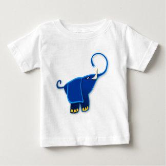 Cool Stylized Blue Elephant Baby T-Shirt