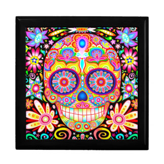 Cool Sugar Skull Gift Box - Day of the Dead Art
