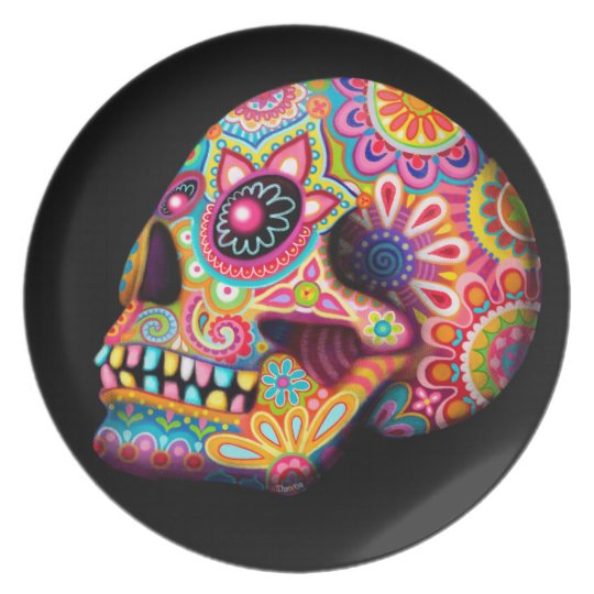 Cool Sugar Skull Plate - Day of the