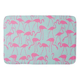 Cool Summer Flamingo Pattern Bath Mat