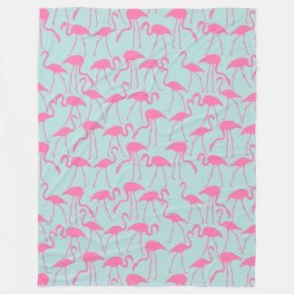 Cool Summer Flamingo Pattern Fleece Blanket