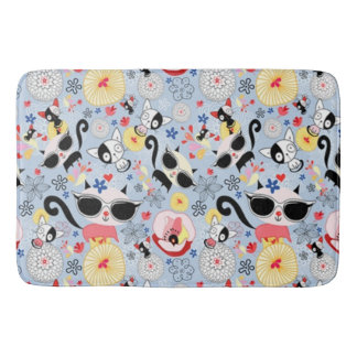 Cool Summer Kitty Bath Mats