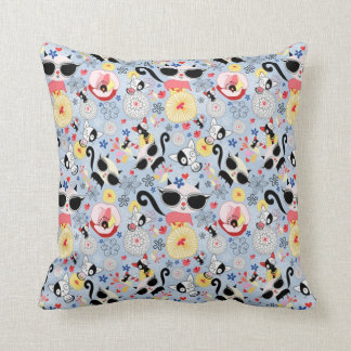 Cool Summer Kitty Cushion