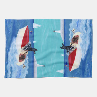 Cool Summer Labradors Painting Towel