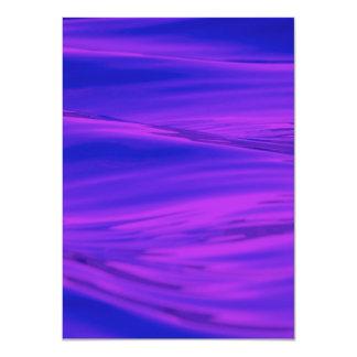 Cool Summer Purple Pink Water Ripples Custom Announcement