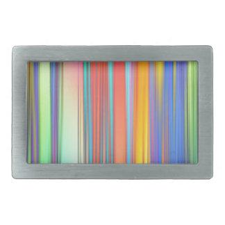 Cool Summer Stripes Rectangular Belt Buckles