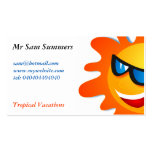 Cool Summer Sun Business Card Template