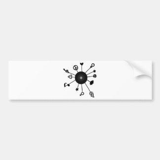 Cool Sun Design Bumper Stickers