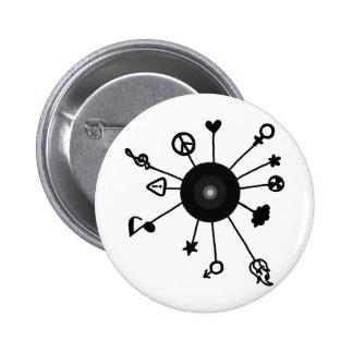 Cool Sun Design Pinback Buttons