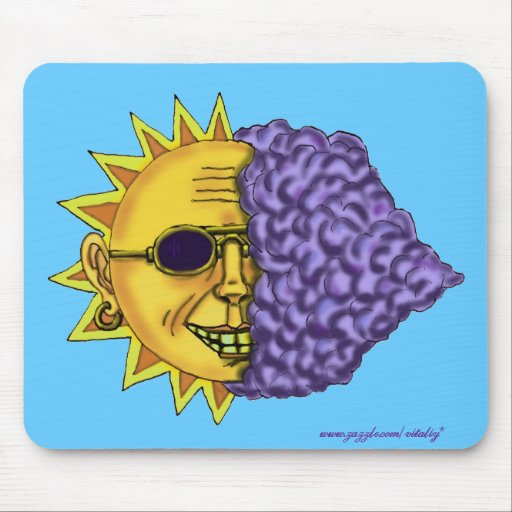 Cool sun funny mousepad design