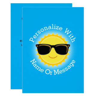 Cool Sun Wearing Sunglasses Card