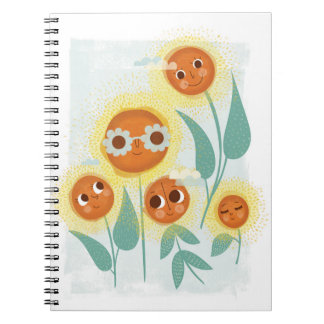 Cool Sunflower Notebooks