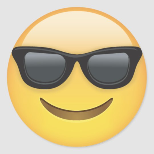 Cool Sunglasses Emoji Dude Stickers