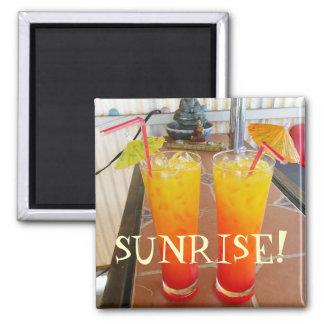 Cool Sunrise Magnet! Square Magnet