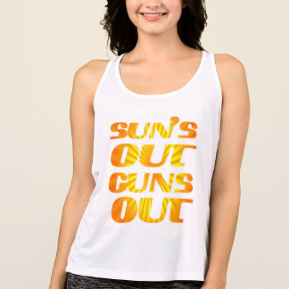 Cool suns out guns out tank top