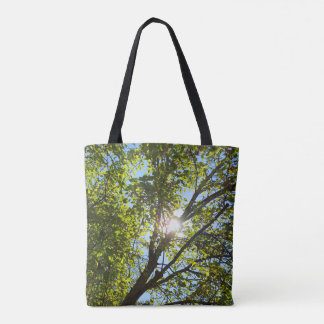 Cool Sunshining Through the Leafy Tree Branches Tote Bag