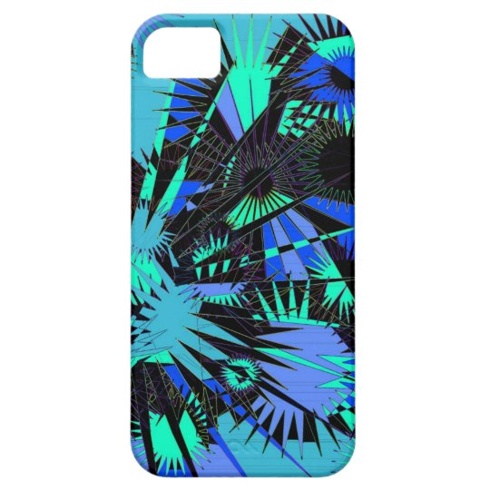 Cool Supernova blue green phone case