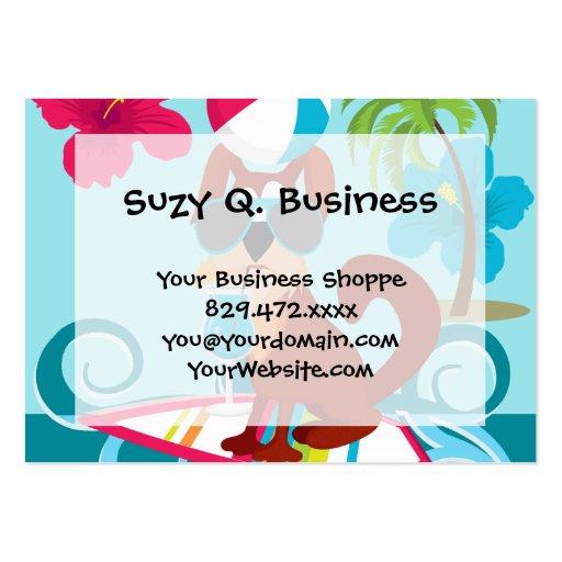 Cool Surfer Dog Surfboard Summer Beach Party Fun Business Card Templates