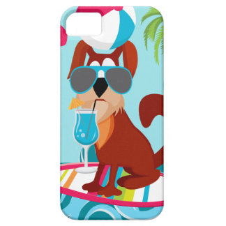 Cool Surfer Dog Surfboard Summer Beach Party Fun iPhone 5 Covers