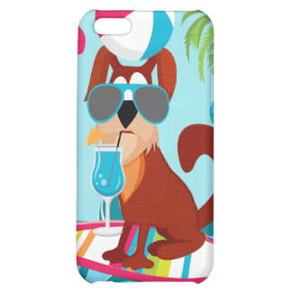 Cool Surfer Dog Surfboard Summer Beach Party Fun iPhone 5C Cases