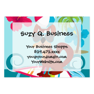 Cool Surfer Dog Surfboard Summer Beach Party Fun Pack Of Chubby Business Cards