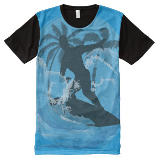 Cool Surfer dude design All-Over Print T-Shirt