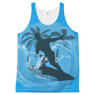Cool Surfer dude design All-Over Print Tank Top