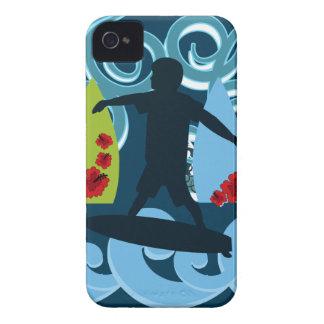 Cool Surfer Dude Surfing Beach Ocean Design Case-Mate iPhone 4 Cases