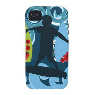 Cool Surfer Dude Surfing Beach Ocean Design Case For The iPhone 4