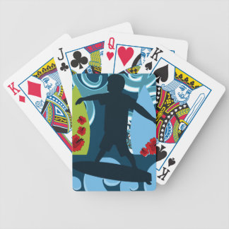 Cool Surfer Dude Surfing Beach Ocean Design Bicycle Poker Cards