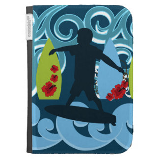 Cool Surfer Dude Surfing Beach Ocean Surf Waves Kindle Cover