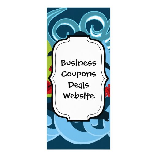 Cool Surfer Dude Surfing Beach Ocean Surf Waves Personalized Rack Card