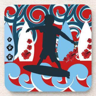 Cool Surfer Dude Surfing Beach Ocean Wave Surf Coaster
