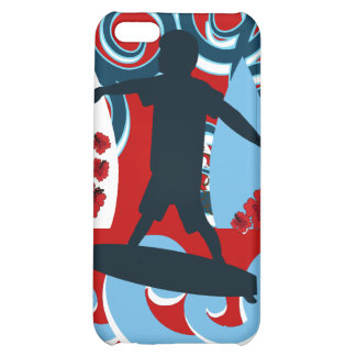 Cool Surfer Dude Surfing Beach Ocean Wave Surf iPhone 5C Cases