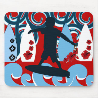 Cool Surfer Dude Surfing Beach Ocean Wave Surf Mouse Pads