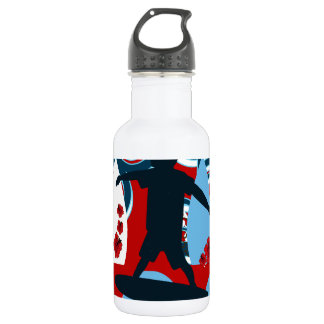 Cool Surfer Dude Surfing Beach Ocean Wave Surf 532 Ml Water Bottle