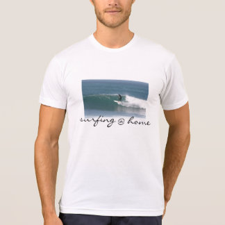 Cool surfing @ home tee shirt for men