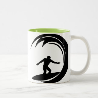 Cool Surfing Two-Tone Coffee Mug