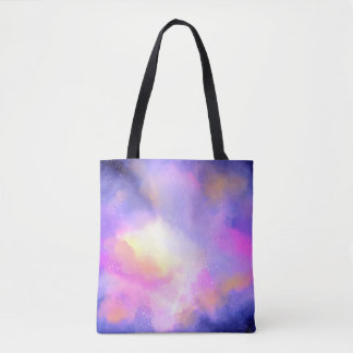 Cool Surreal Clouds Watercolor Design Tote Bag