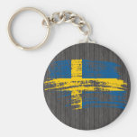 Cool Swedish flag design Keychains